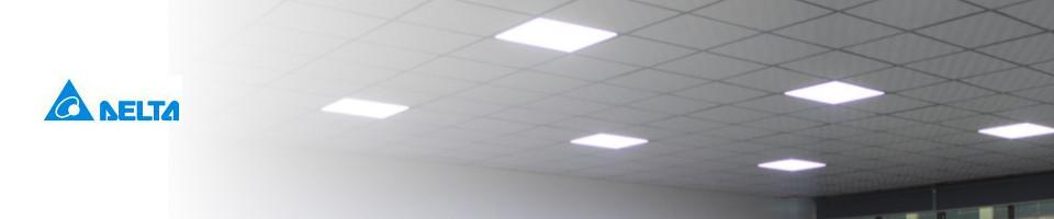 Hvidt LED belysning i kontormiljø